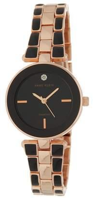 Anne Klein Women's Rose Gold-Tone Round Case Bracelet Watch, 28mm