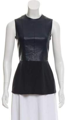 Cédric Charlier Vegan Leather Sleeveless Top