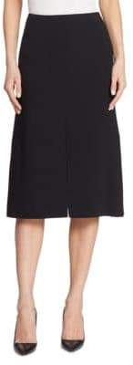 Double-Face Wool A-Line Skirt