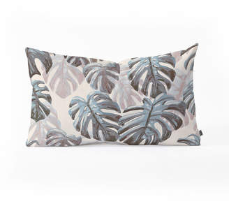 Deny Designs Dash and Ash Palm Springs Blues Oblong Throw Pillow