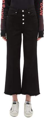 Rag & Bone 'Ankle Justine' button fly denim culottes
