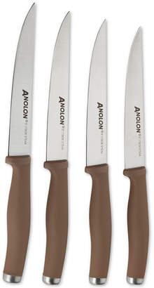 Anolon SureGrip 4-Pc. Stainless Steel Japanese Steak Knife Set