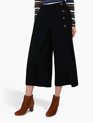 Monsoon Carly Smart Culottes, Black