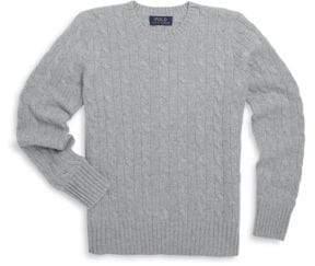 Ralph Lauren Boy's Cable-Knit Cashmere Sweater