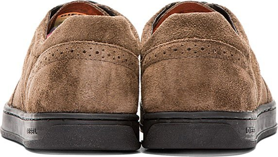 Diesel Brown Suede Brogued Prime Time Sneakers