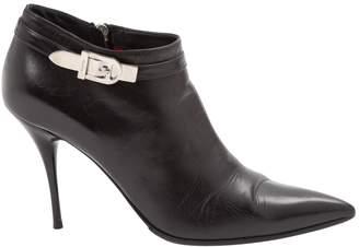 Cesare Paciotti Black Leather Ankle boots