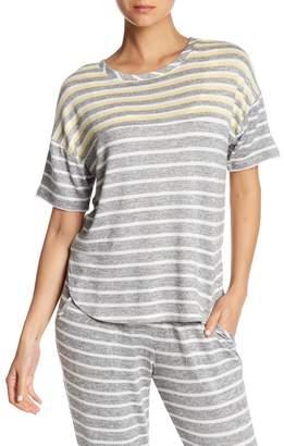Kensie Pajama Stripe Knit Sleep Tee