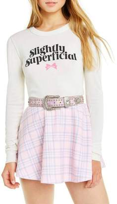 Wildfox Couture Slightly-Superficial Cropped Long-Sleeve