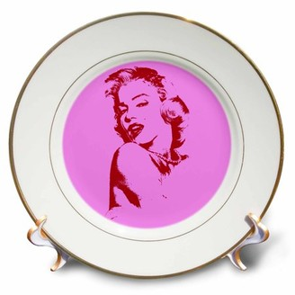 Monroe 3dRose Sexy image of Marilyn Hot pink. Popular print. Best seller. - Porcelain Plate, 8-inch