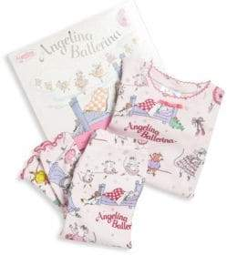 Angelina Ballerina Books To Bed Toddler's& Little Girl's Two-Piece Pajama& Book Set