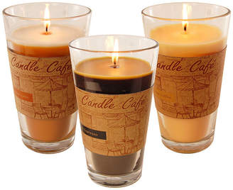 Asstd National Brand Scented Candles- Coffee Caf Collection in 11oz Glass Jars (Set of 3)