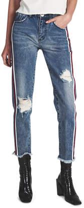 One Teaspoon Blue Society Awesome Baggies High Waist Straight Leg Jean