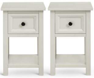 Marks and Spencer Dawson Grey Compact Bedside Pair