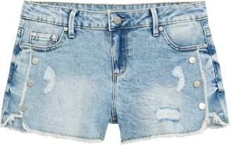 Tractr Distressed Button Detail Denim Shorts
