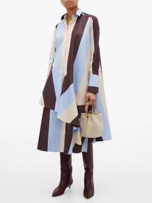 Palmer Harding Palmer//Harding Palmer//harding - Spicy Striped Cotton Shirtdress - Womens - Burgundy Multi