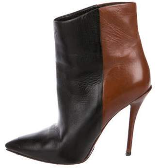 Brian Atwood Leather Pointed-Toe Boots