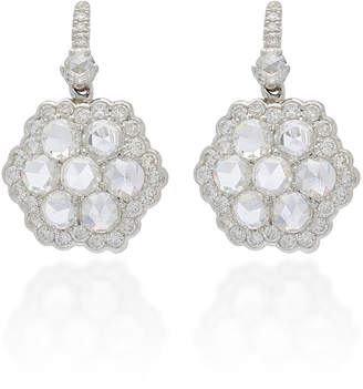 Nam Cho 18K White Gold and Diamond Earrings