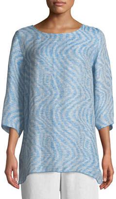 Caroline Rose Ride the Wave Easy Linen/Cotton Tunic, Plus Size
