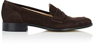 Barneys New York Women's Penny Loafers-DARK BROWN $275 thestylecure.com