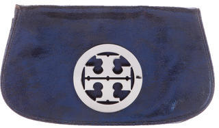 Tory Burch Tory Burch Leather Logo Clutch