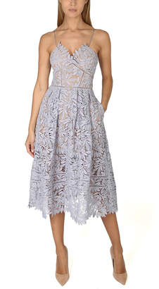 Self-Portrait Laelia Lace Midi Dress