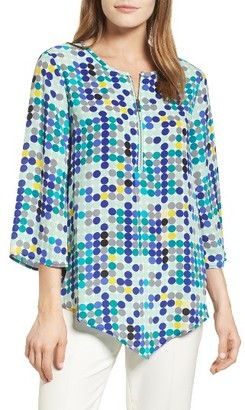 Women's Chaus Dotted Lights Zip Front Blouse $69 thestylecure.com