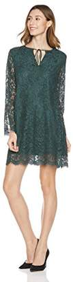 Savoir Faire Dresses Women's Long Sleeve Keyhole Lace Fitted Dress with Lining