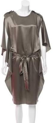 Lanvin Satin Midi Dress
