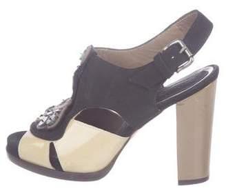 Marni Embellished Peep-Toe Sandals