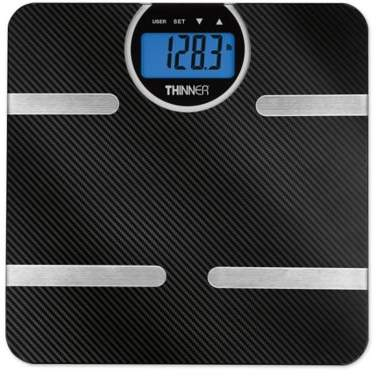 Thinner© by ConairTM Carbon Fiber Body Analysis Scale
