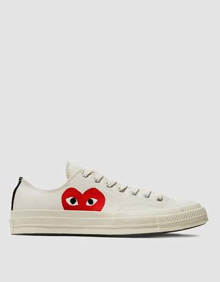 Comme des Garcons Play Converse Chuck Taylor Low in Beige