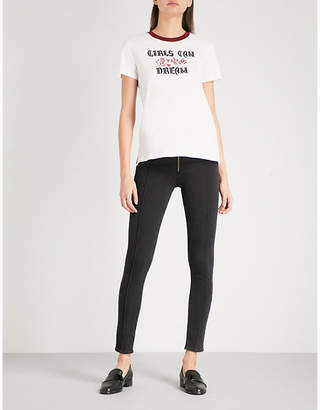 Sandro Seam-detailed skinny high-rise jeans