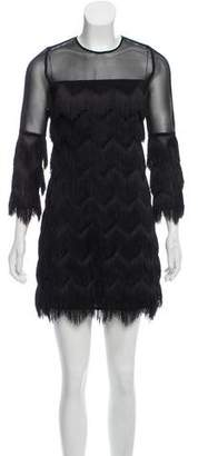 Alexis Fringe-Tiered Mini Dress w/ Tags