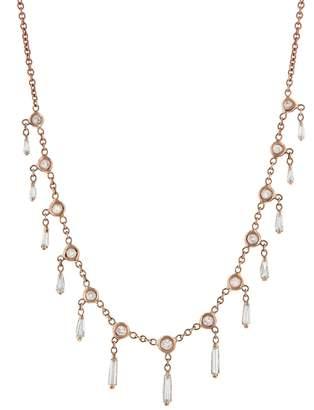 Jacquie Aiche Baguette Diamond Shaker Necklace - Rose Gold