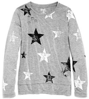 Flowers by Zoe Girls' Distressed Star-Print Top - Big Kid