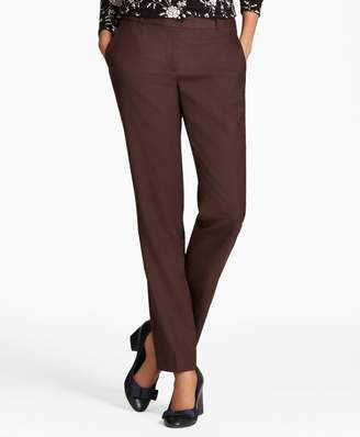 Brooks Brothers Straight-Leg Stretch-Wool Pants