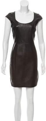 Graham & Spencer Leather Mini Dress