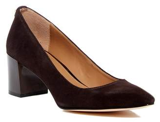Calvin Klein Natalynn Leather Block Heel Pump