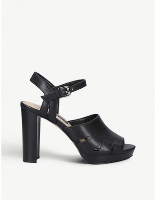 Nine West Delilah leather platform sandals