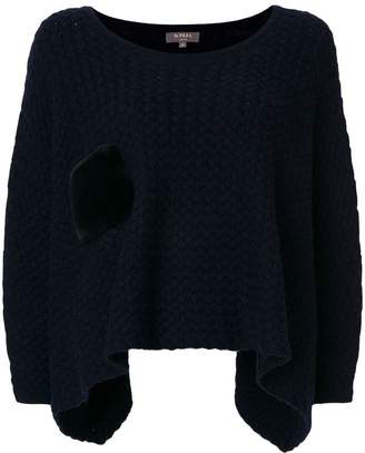 N.Peal cashmere cropped poncho