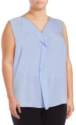 Calvin Klein Plus Size Sleeveless Blouse