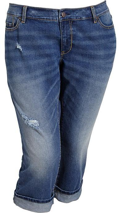 Old Navy Women's Plus Cuffed-Denim Capris