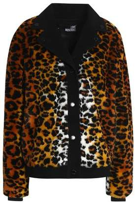 Love Moschino Leopard-Print Faux Fur Coat