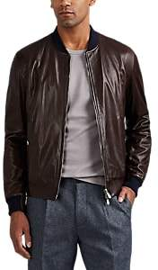 Brunello Cucinelli MEN'S REVERSIBLE LEATHER BOMBER JACKET
