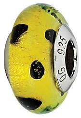 Murano Prerogatives Lime with Black Dots Italian Glass Bead