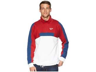 Reebok Classics Quarter Zip Fleece Sweatshirt