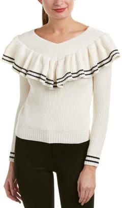 Self-Portrait Wool-Blend Sweater