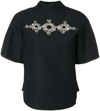 Antonio Berardi embellished high neck top