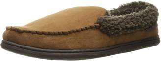 Dearfoams Men's Microfiber Suede Moc with Memory Foam Moccasin