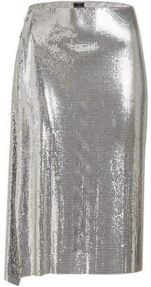 Paco Rabanne Draped Sequin Skirt